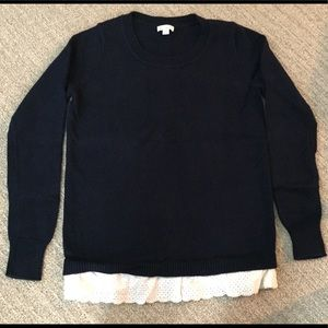 Gap Sweater w/ Ruffle Shirt Bottom